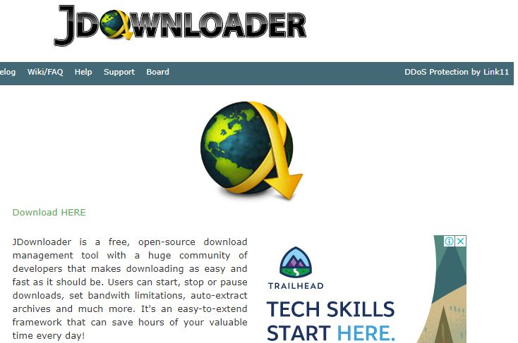 JDownloader best for streaming video
