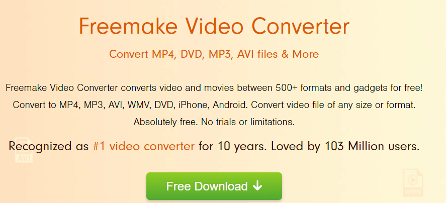 Freemake video converter is best Youtube Videos to Audio Converter  mp3 mp4