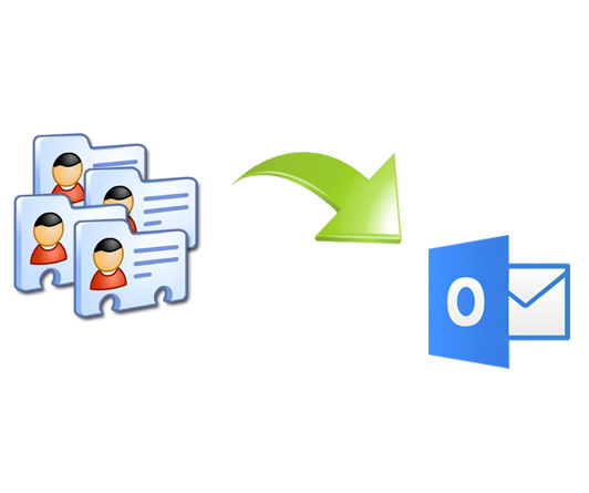 save vCard to Outlook contacts