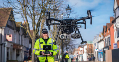How are drones used with AR technology?