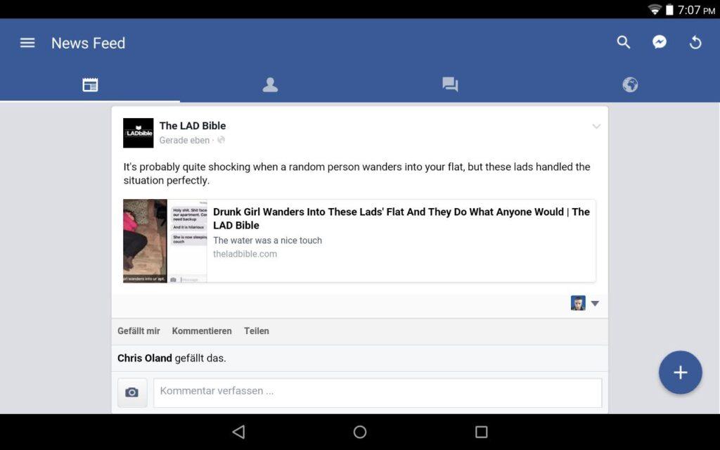 facebook touch login